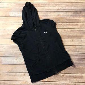 { Puma } hooded sweater vest